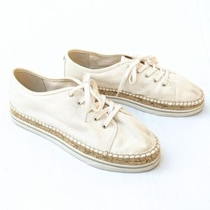 IVANKA TRUMP Nallis Cream Espadrille Sneakers